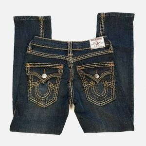True Religion Joey Jeans Ankle Slim Size 30 HEMMED